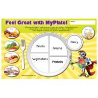 11-4018 Feel Great With MyPlate Placemats - English
