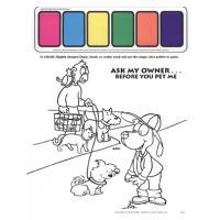 9-2660 I'm Safe! With My Pet Paint Sheet - English