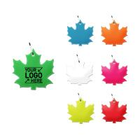 R912 Reflective Maple Leaf Shaped Zipper Pull