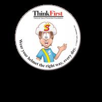 ThinkFirst Round Sticker