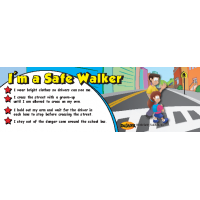 TF-3800 I'm a Safe Walker Bookmark - ThinkFirst