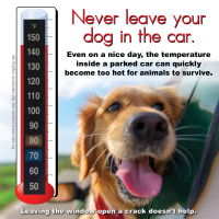 9-5110  Pet/Dog - Heatstroke Thermometer Window Cling