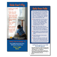 """5-3753 Fall Prevention """"Kids Can't Fly"""" Pledge Card"""