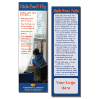"5-3754 ""Kids Can't Fly"" Fall Prevention Bookmark"