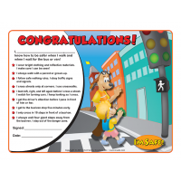 6-1364 I'm Safe! Walk & Ride the Bus with Me Award Certificate - English