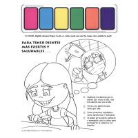 11-5305 For Stronger Healthier Teeth Paint Sheet - Spanish