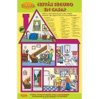 5-2101 ¿Estás seguro en casa? Home Safety Classroom Poster - Spanish