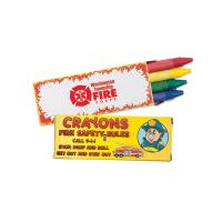 Fire Safety Custom Crayons