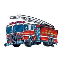 Fire Truck Removable Tattoo