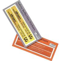 Reflective Rectangular Safety Stickers