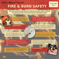 5-3744 Fire & Burn Prevention Tabletop Display