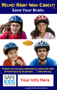 Safe Kids Helmet Hair Meme - Customizable