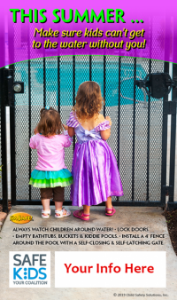 Safe Kids Water Safety Meme - Customizable
