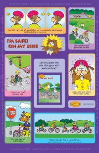 1-1060 I'm Safe! on My Bike Poster - English