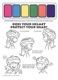 1-1810 I'm Safe! on My Bike Paint Sheet - English
