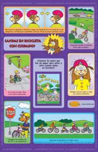 1-2880 I'm Safe! on My Bike Poster - Spanish