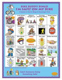 1-3180 I'm Safe! Bike Buddy Bingo Game