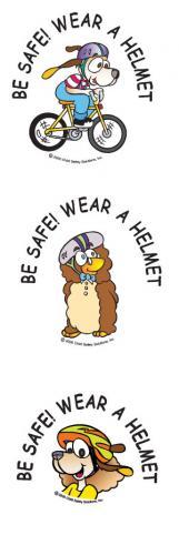1-4220 Be Safe! Wear A Helmet Tattoos