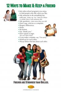 """10-3011 """"12 Ways to Make a Friend"""" Bullying Prevention Poster - English"""