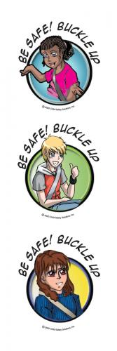 10-4860 Pre-Teen Car Safety Tattoos