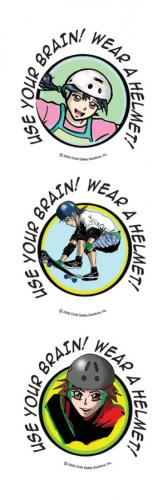 10-4870 Pre-Teen Bike Safety Tattoos