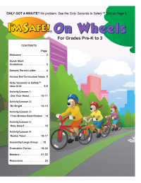 1-1070 I'm Safe! on Wheels Presenter's Guide For Pre-K to 3