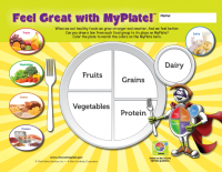 "11-4016 Feel Great With MyPlate Placemats - 11"" x 8.5"" English"