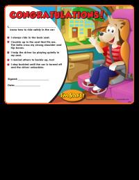 2-1240 Child Passenger Safety Award Certificate