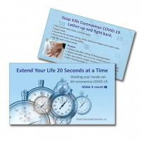 13-1003 Extend Your Life 20 Seconds at a Time Palm Card