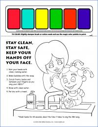 13-1022 I'm Safe! Handwashing Paint Sheet - English