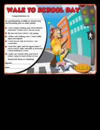 6-1362 Walk to School Award Certificate K-2  - English