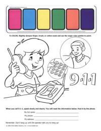4-1830 I'm Safe! at Home 9-1-1- Paint Sheet - English