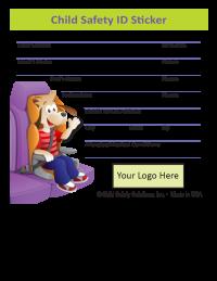 2-1097 Custom Child Safety ID Sticker