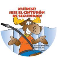 Be Safe Buckle Up Sticker Spanish