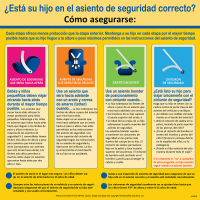 """2-3603 Spanish """"Is Your Child in the Right Car Seat?"""" Tabletop Display"""