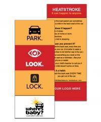 2-5121 Heatstroke Prevention Info Card - Park. Look. Lock.