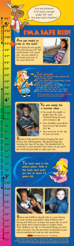 2-2790 I'm Safe! in the Car Height Chart Bilingual