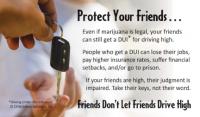 "3-4242 ""Friends don't let friends drive high"" Palm Card"