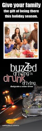 3-8004 NHTSA Holiday Buzzed Driving Bookmark