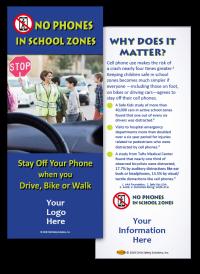 3-6219 No Phones in School Zones - Info Card