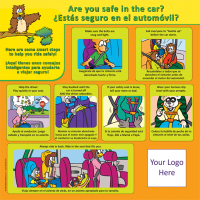 2-3605 Car Safety Tabletop Display - Bilingual