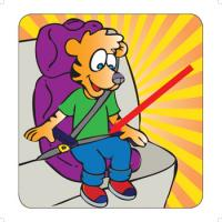 2-3680 Large Format Teaching Cards - Car Safety