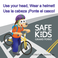 1-1088 Custom Bike Safely Stickers Bilingual Edition