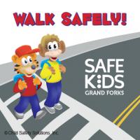 6-3369 Walk Safely Custom Sticker