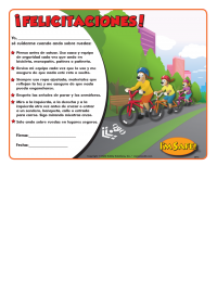 1-4270 I'm Safe! on Wheels Award Certificate - Spanish