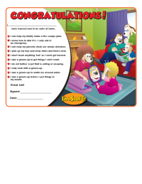 5-1709 Home Safety Award Certificate