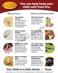 5-5020 Parent Tip Sheet - Fire and Burn Safety - English