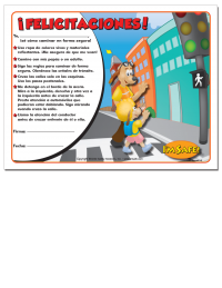 6-1363 Safe Walking Award Certificate Spanish Edition