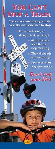 6-3346 You Can't Stop A Train Standup Banner