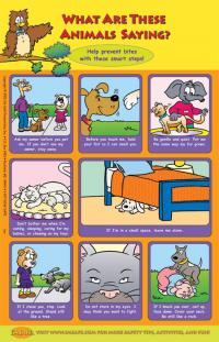9-1280 What Are These Animals Saying? Poster - English